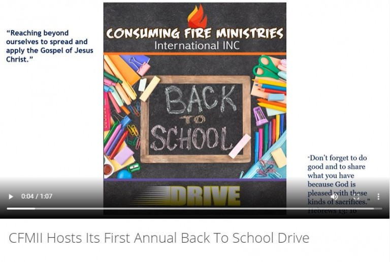 2021-08-11 12_37_09-CFMII Hosts Its First Annual Back To School Drive – Consuming Fire Ministries